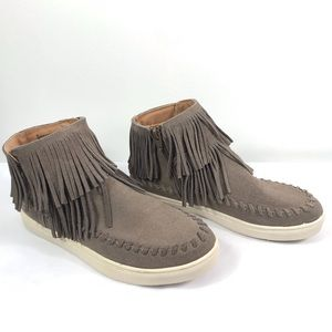Mossimo Supply Co. | Taupe Suede Fringe Sneakers